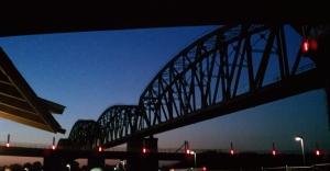 The Big Four Bridge at night.  Photo by Justin Thomas