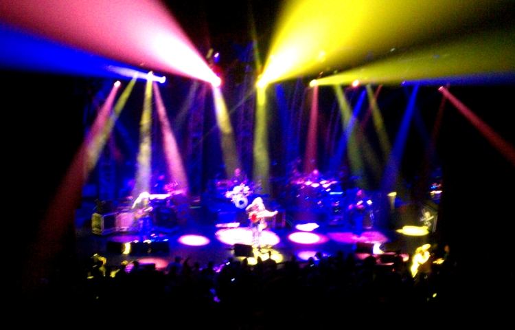 A scene from the balcony during Widespread Panic's last visit to the Louisville Palace Theater