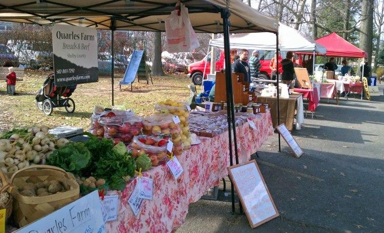 Douglass Loop Farmer's Market in the Fall