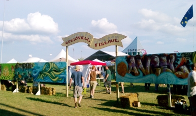 The Louisville Village is where you find a lot of art and local activism tents