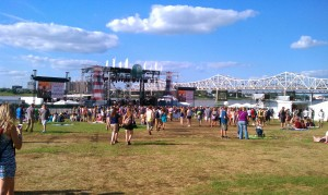 The main stage at Forecastle Festival 2013