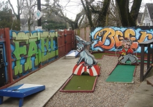 Play some putt-putt at Frankfort Ave Beer Depot