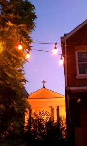 A shot from the patio at Holy Grale
